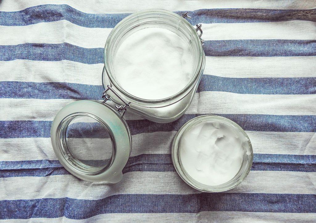 coconut oil, oil, white