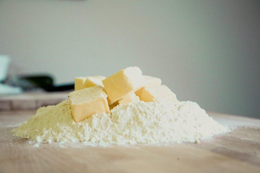 bake, butter, flour