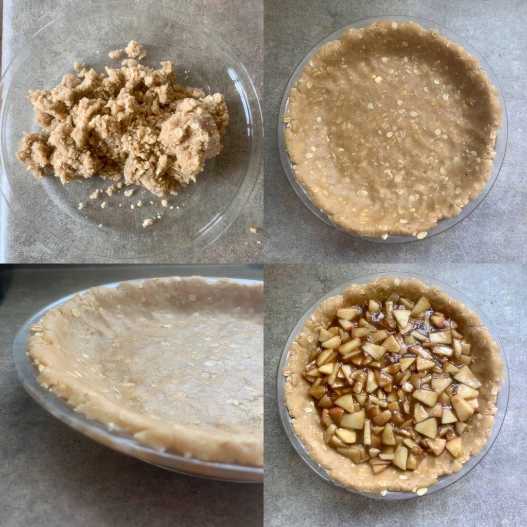 Crumble pie crust