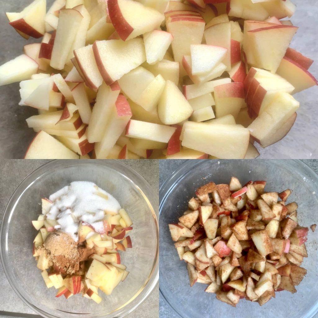 Diced apples for apple filling